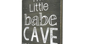 33025 Little Babe Cave Wood Wall Plaque