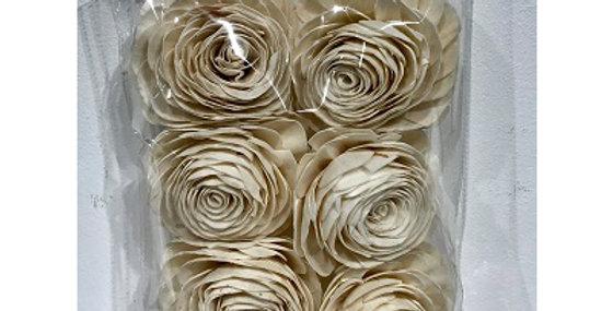 41167 6 pc American Beauty Rose Flower Heads