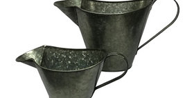 50039 Set of 2 Graphite Olive Oil Pitcher