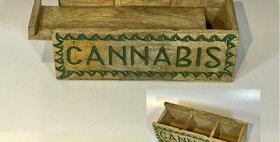 60067 Cannabis Design Divided Slide-Top Box