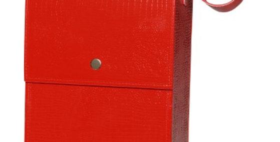2-BTL BOX(RED)-WOODEN