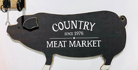 30115 Pig Country Meat Market Wall Sign