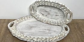 67051 SET 2 LOUIS XIV TRAYS