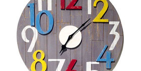 10199 3-D Wood Cutout Wall Clock