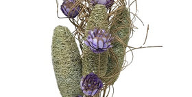 41145 CURLY TING SAGE LUFFA & LAVENDER FLOWERS BOUQUET