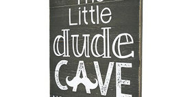 33024 Little Dude Cave Wood Wall Plaque