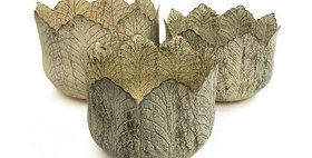69009 Set of 3 Cabbage Leaf Planters