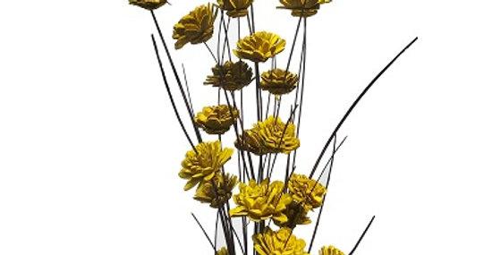 24 Stem Ting Zinnia Flower Branches - Sunkist
