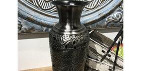 52008 Medium Botanica Vase-Antique Nickel