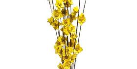 41017 12 Stem Ting Rukmani Flower Branches - Sunkist