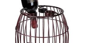 88608 Mesh 3 Bottle Wine Barrel-Merlot-28608