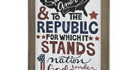 Wood Pledge of Allegiance Wall Plaque