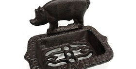 51021 Cast Iron Pig Soap Dish