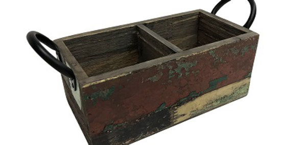 Reclaimed Wood Double Rectangle Planter