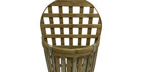 10249 Vase Bamboo Wall Basket