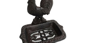 51022 Cast Iron Rooster Soap Dish
