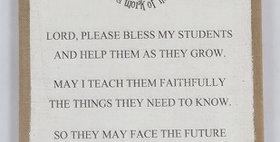 11017 Teachers Prayer Wall Dcr Burlap