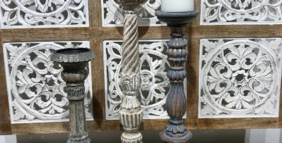 Set of 3 Classical Candleholders