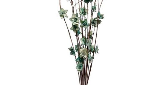 41019 12 Stem Ting Rukmani Flower Branches - SeaFoam