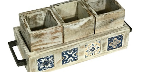 79065 Azulejos WW 4-Piece Storage Trays