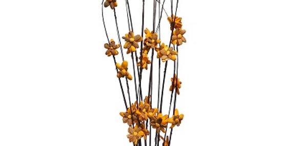 12 Stem Ting Lara Flower Branches - Tangerine
