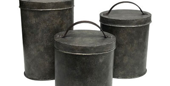 Set of 3 Top Handle Canister Set