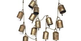 62025 Festival Bell Garland Antq Gold