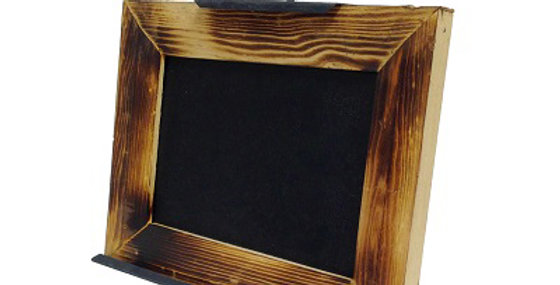 Horizontal Chalkboard with Rose Easel