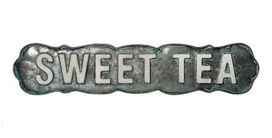 Sweet Tea Embossed Sign