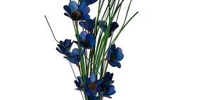 41102 6 Stem Colbalt Blue Poppy