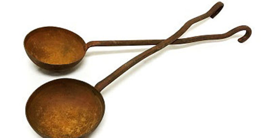 Set of 2 Metal Decorative Ladles