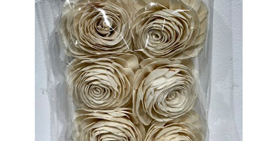 6 pc American Beauty Rose Flower Heads