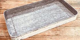 10471 Galvanized Tray-white wash