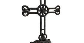 51005 Cast Iron Filagree Cross on Pedestal