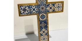 79011 Small Azulejos Table Cross