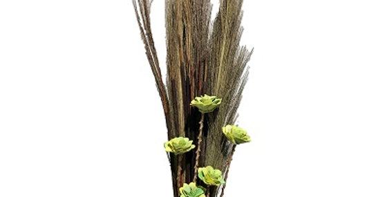 Prairie Grass/Cattails & KHAKI Wild Rose Drop-in B