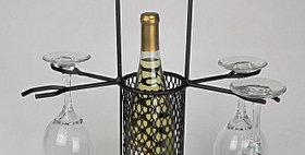 89607 Mesh Bottle Carrier 4 Stem-Textured Bronze-19607