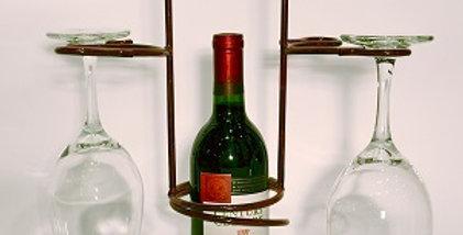 Swirl Wine Holder with Four Stem Holder-Merlot-280