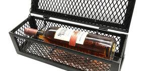89644 Mesh Single Bottle Wine Box-Textured Bronze-19644