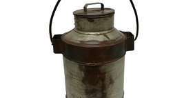78009 Vintage Large Milk Can with Lid
