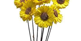 41056 7 Stem Sunflower Flower Branches