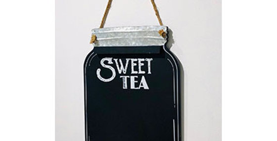 33027 Wood Sweet Tea Wall Chalkboard