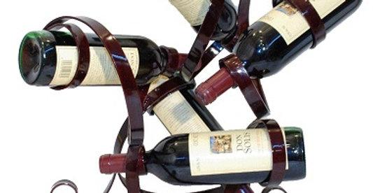 88598 5 Bottle Wine Holder-Merlot-28598