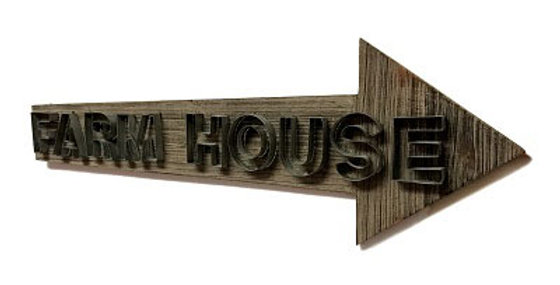 Wd/Mtl Wall Arrow FARMHOUSE