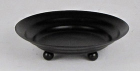 89005 Round 6 inch Candle Plate with 3 Feet -Textured Br