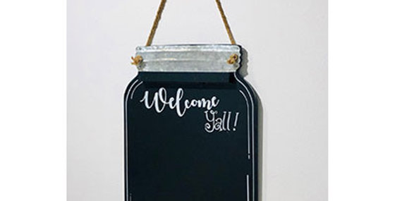 33028 Wood Welcome YAll Wall Chalkboard