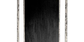 30010 Grocery List Iron Blackboard (Distressed White)