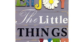 10231 Little Things... 3-D Wood Plaque-