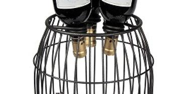 Mesh 3 Bottle Wine Barrel-Textured Bronze-19608
