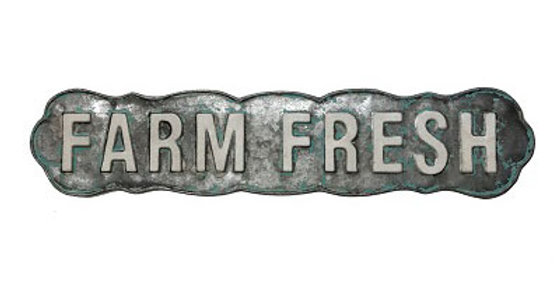Farm Fresh Produce Embossed Sign